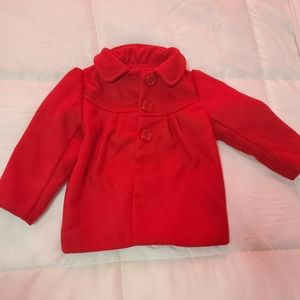 Toddler red peacoat